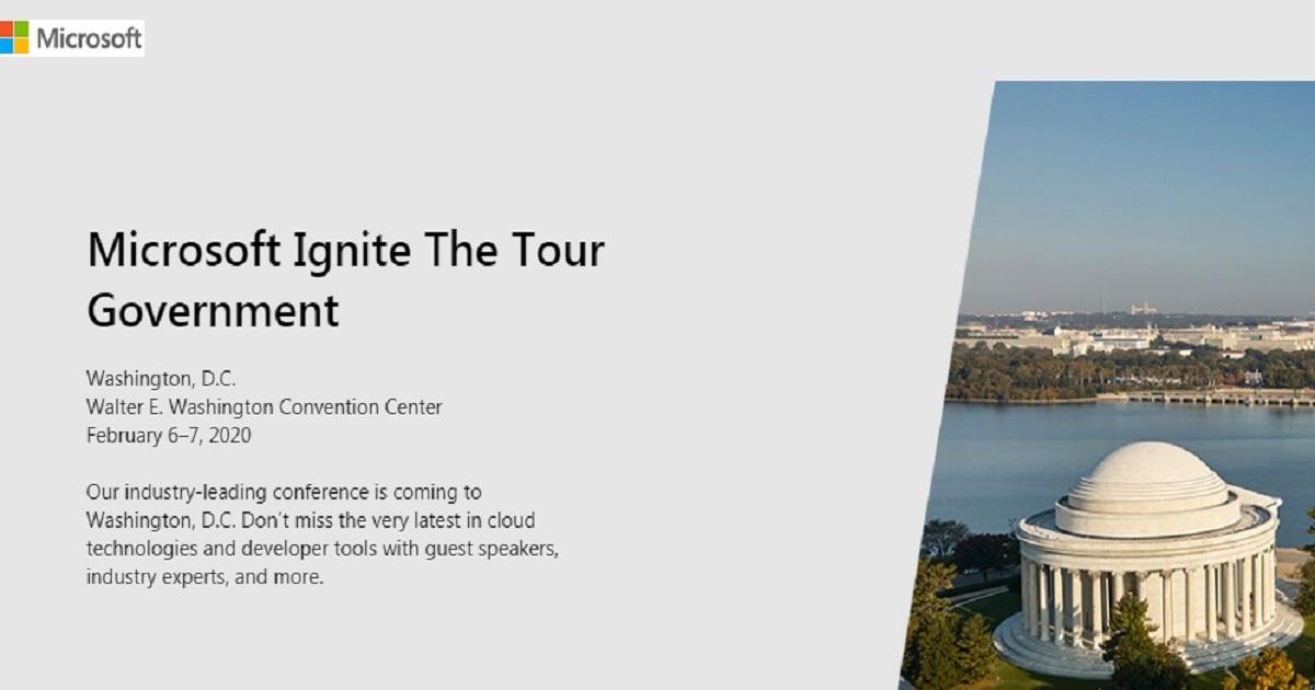 Microsoft Ignite The Tour Government