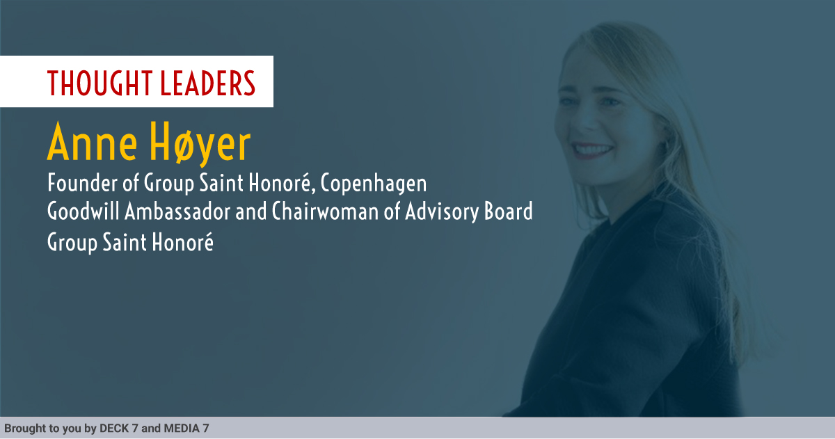 Q&A with Anne Høyer, Founder of Group Saint Honoré, Copenhagen Goodwill Ambassador and Chairwoman of Advisory Board at Smart IoT London