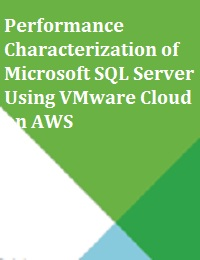 PERFORMANCE CHARACTERIZATION OF MICROSOFT SQL SERVER USING VMWARE CLOUD ON AWS