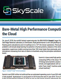 BARE-METAL HIGH PERFORMANCE COMPUTING IN THE CLOUD