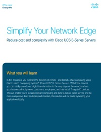 SIMPLIFY YOUR NETWORK EDGE