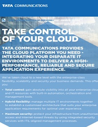 TAKE CONTROL OF YOUR CLOUD