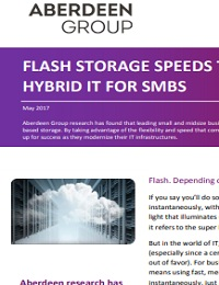 FLASH STORAGE SPEEDS THE PATH TO HYBRID IT FOR SMBS